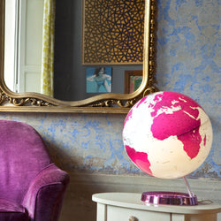 Light & Color Designer Series Globe Hot Pink, Desktop Globes, Waypoint Geographic - Waypoint Geographic