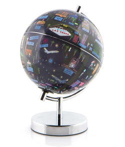 "Las Vegas 9"" Night Lights Globee - Illuminated, Illustrated Globes, Waypoint Geographic - Waypoint Geographic"