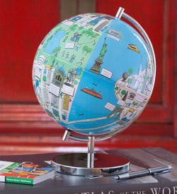 "New York 9"" Night Lights Globee - Illuminated, Illustrated Globes, Waypoint Geographic - Waypoint Geographic"