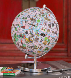 "Amsterdam - 4"" Globee, Illustrated Globes, Waypoint Geographic - Waypoint Geographic"