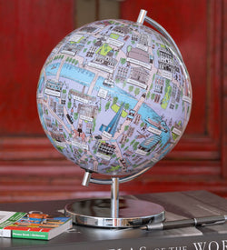"London - 4"" Globee, Illustrated Globes, Waypoint Geographic - Waypoint Geographic"