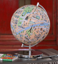 "Paris - 4"" Globee, Illustrated Globes, Waypoint Geographic - Waypoint Geographic"