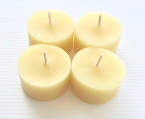 tea light candles 100% organic beeswax