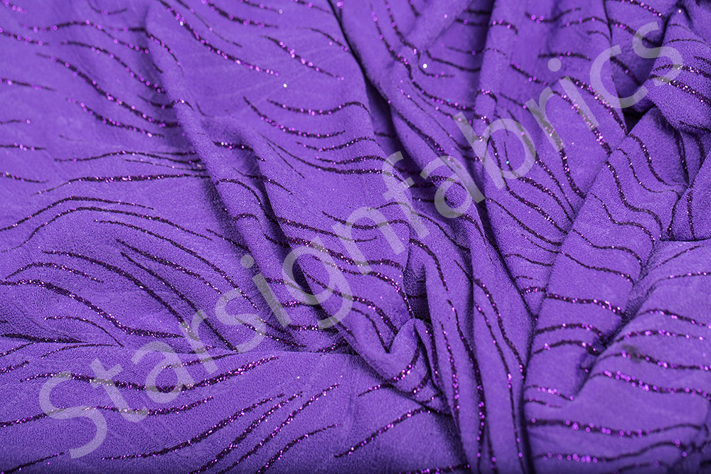 Shiny Foil Print Knitted Fabric