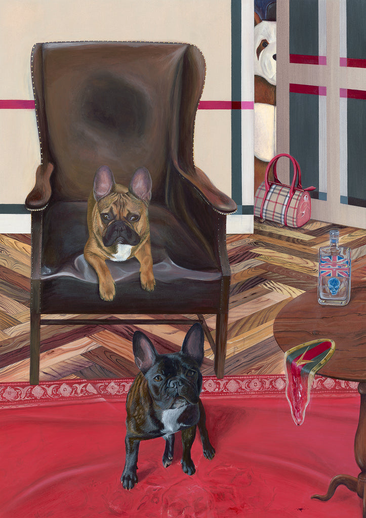 Dog Art Prints and Originals – Burberry, French Bulldog Art – Commissioned Artwork by Selina Cassidy