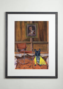 Artists' frame - Dog Art Prints and Originals – Fendi Frenchie, French Bulldog - Dressed To Kill by Selina Cassidy
