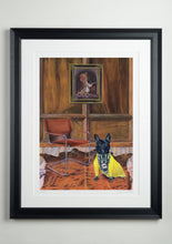 Black deluxe picture frame - Dog Art Prints and Originals – Fendi, French Bulldog – Dressed To Kill by Selina Cassidy
