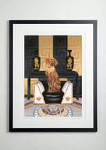 Black modern picture frame - Dog Art Prints and Originals – Versace, Vizsla – Medusa by Selina Cassidy