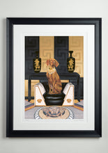 Black deluxe picture frame - Dog Art Prints and Originals – Versace, Vizsla – Medusa by Selina Cassidy