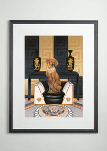 Artists' frame - Dog Art Prints and Originals – Versace, Vizsla - Medusa by Selina Cassidy