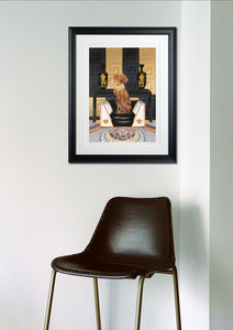 In-situ Artwork - Dog Art Prints and Originals – Versace, Vizsla – Medusa by Selina Cassidy