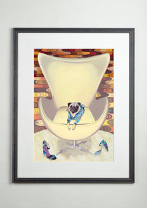 Artists' Choice Frame - Dog Art Prints and Originals – Pucci, Pug - Multum In Parvo by Selina Cassidy