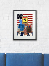 Artists' frame - Dog Art Prints and Originals – Ralph Lauren, Red Setter - Star and Stripes by Selina Cassidy