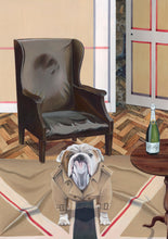 Dog Art Prints and Originals – Burberry, Bulldog - The Finest Hour by Selina Cassidy