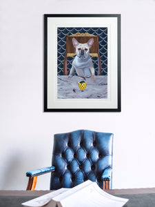 In-situ Artwork - Dog Art Prints and Originals – Faberge, French Bulldog – Diamond From Ruff by Selina Cassidy