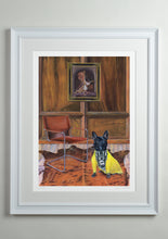 White deluxe picture frame - Dog Art Prints and Originals – Fendi, French Bulldog – Dressed To Kill by Selina Cassidy