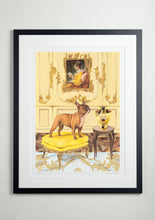 Black modern picture frame - Dog Art Prints and Originals – Fragonard, French Bulldog – A Dogue By Any Other Name by Selina Cassidy