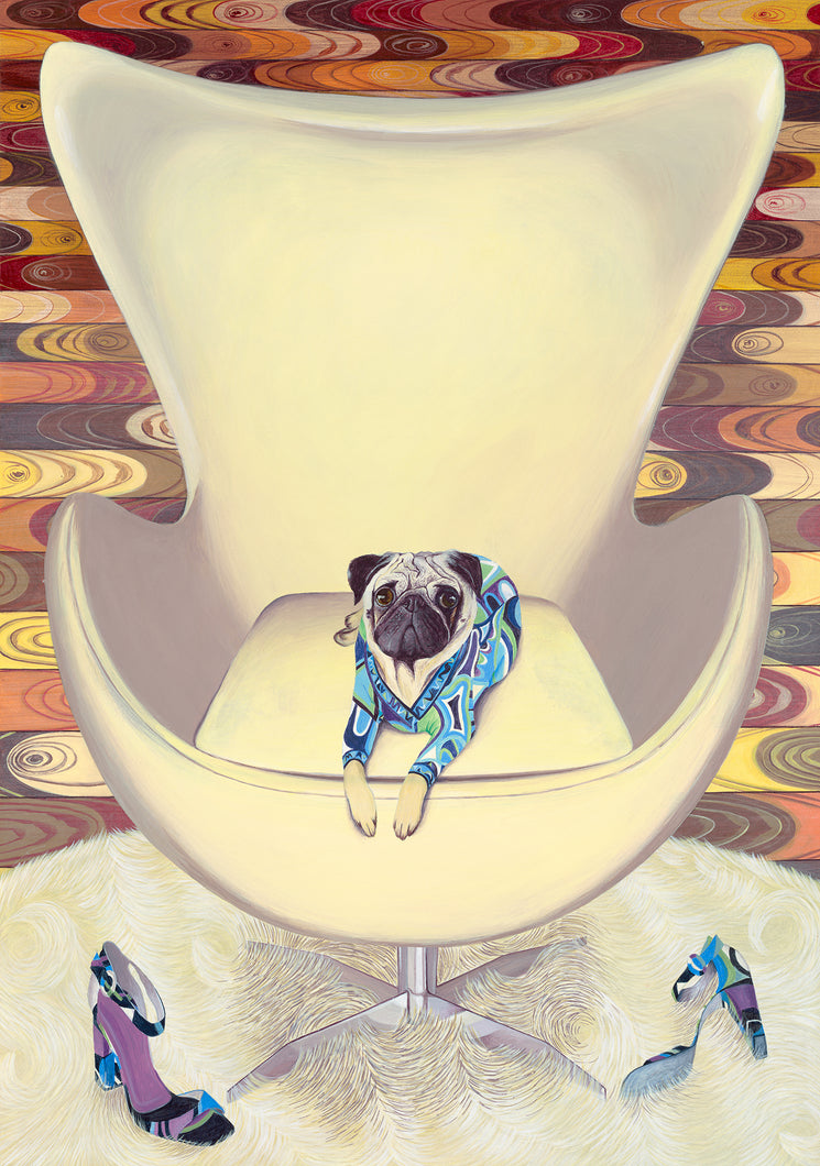 Dog Art Prints and Originals – Pucci, Pug - Multum In Parvo by Selina Cassidy