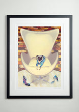 Black Modern Picture Frame - Dog Art Prints and Originals – Pucci, Pug Art – Multum In Parvo by Selina Cassidy