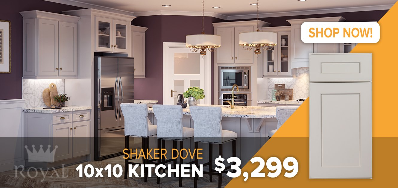 Shaker Dove Cabinets