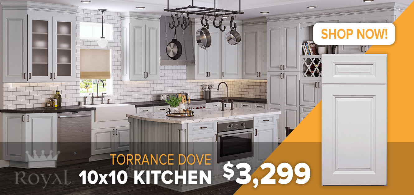 Torrance Dove Cabinets