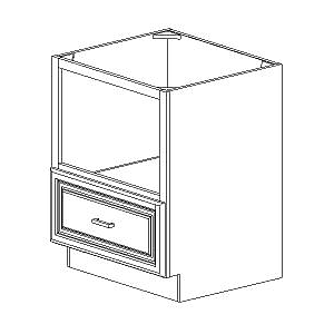 "BMC27 - White Cloud Soda - Base Built in Microwave Cabinet 27"" - Royal Online Cabinets"