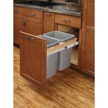 Double 35qt w/Ball Bearing Soft Close Slides - Royal Online Cabinets