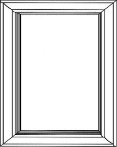 "BDD -Snow White Shaker - Base Dummy Door 24"" X 30"" - Royal Online Cabinets"