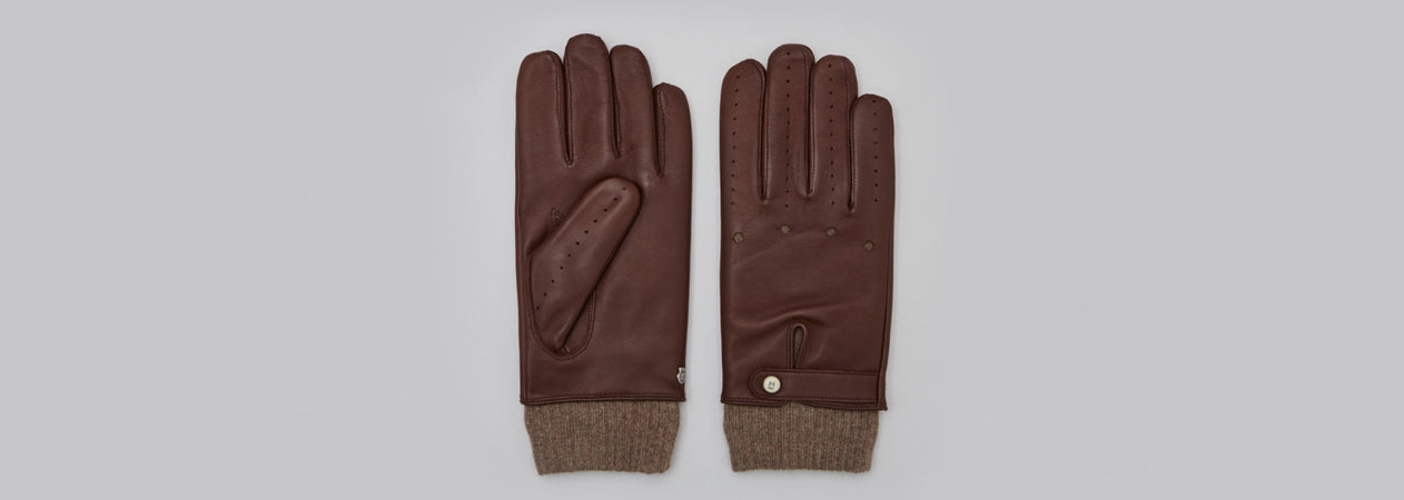 Houseofhrvst collaboration with Roeckl luxury leather gloves