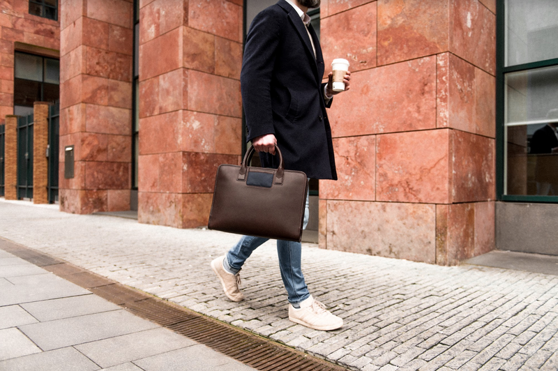 Brown Navy Briefcase