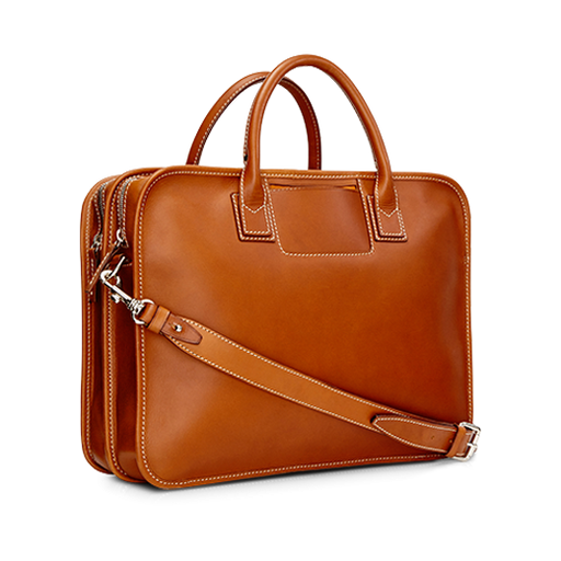 Double Briefcase All Leather