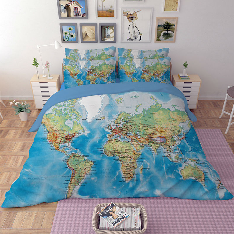 The world map bedding set the north gifts the world map bedding set gumiabroncs Images