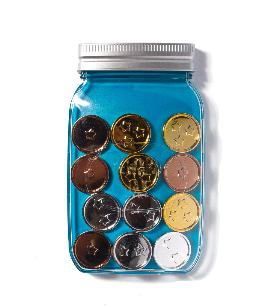 Magnetic Children's Reward Jar - BLUE