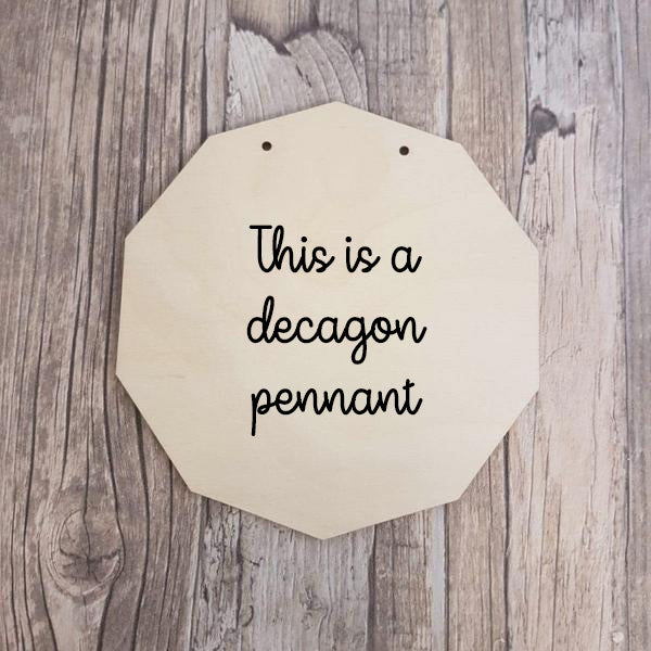 DESIGN YOUR OWN - PENNANT/PLAQUE/BUNTING