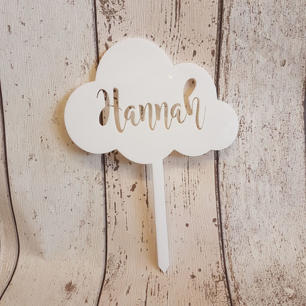 Acrylic Cloud Shape Cake Topper