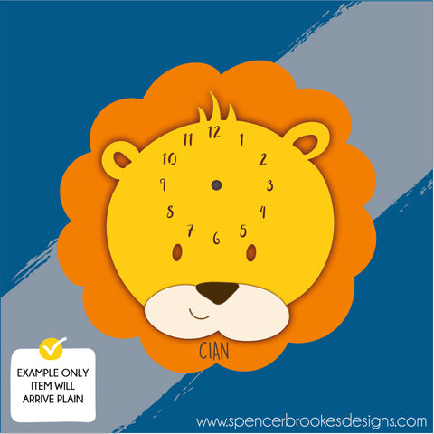 Wooden Clock Kit - Layered Lion