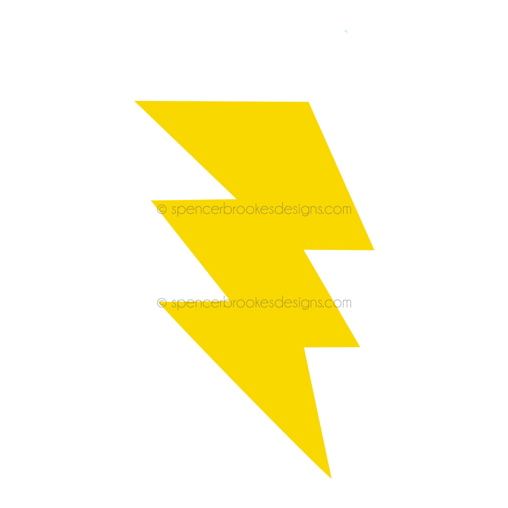 Acrylic Lightning Bolt