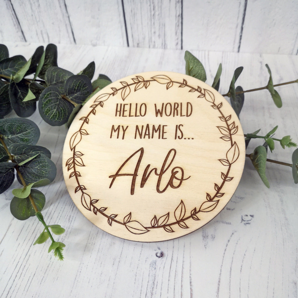Hello World My Name Is... Engraved Plaque
