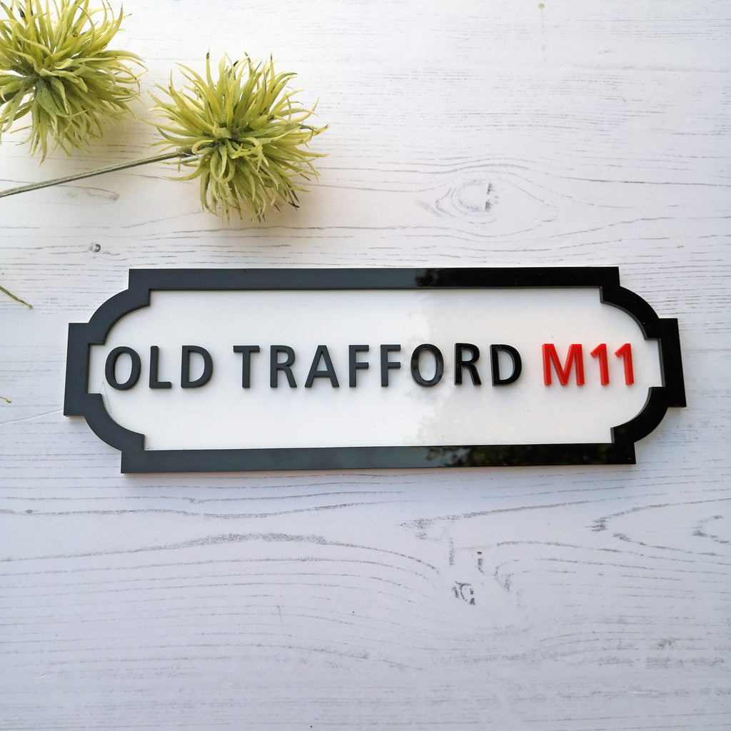 Personalised Street Road Sign KIT - ACRYLIC
