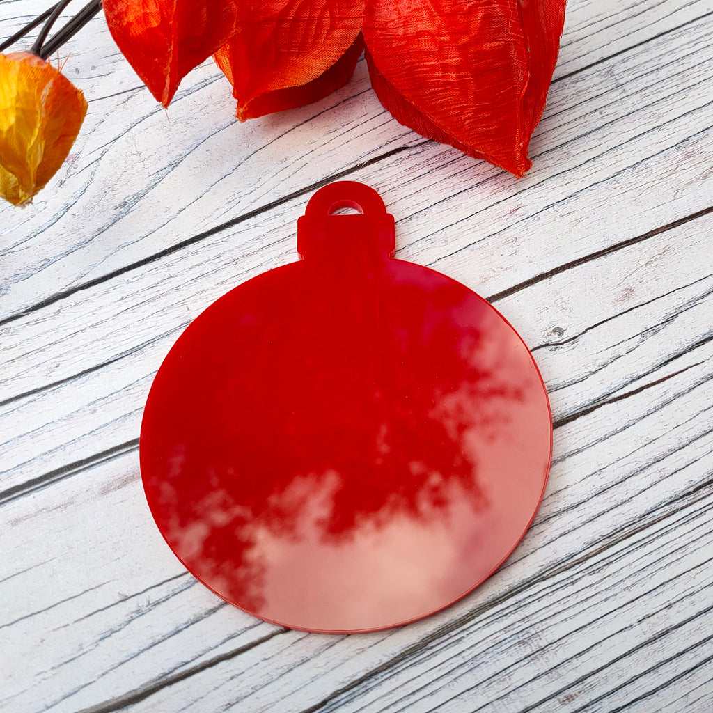 3mm Metallic Acrylic Bauble Blank - Red