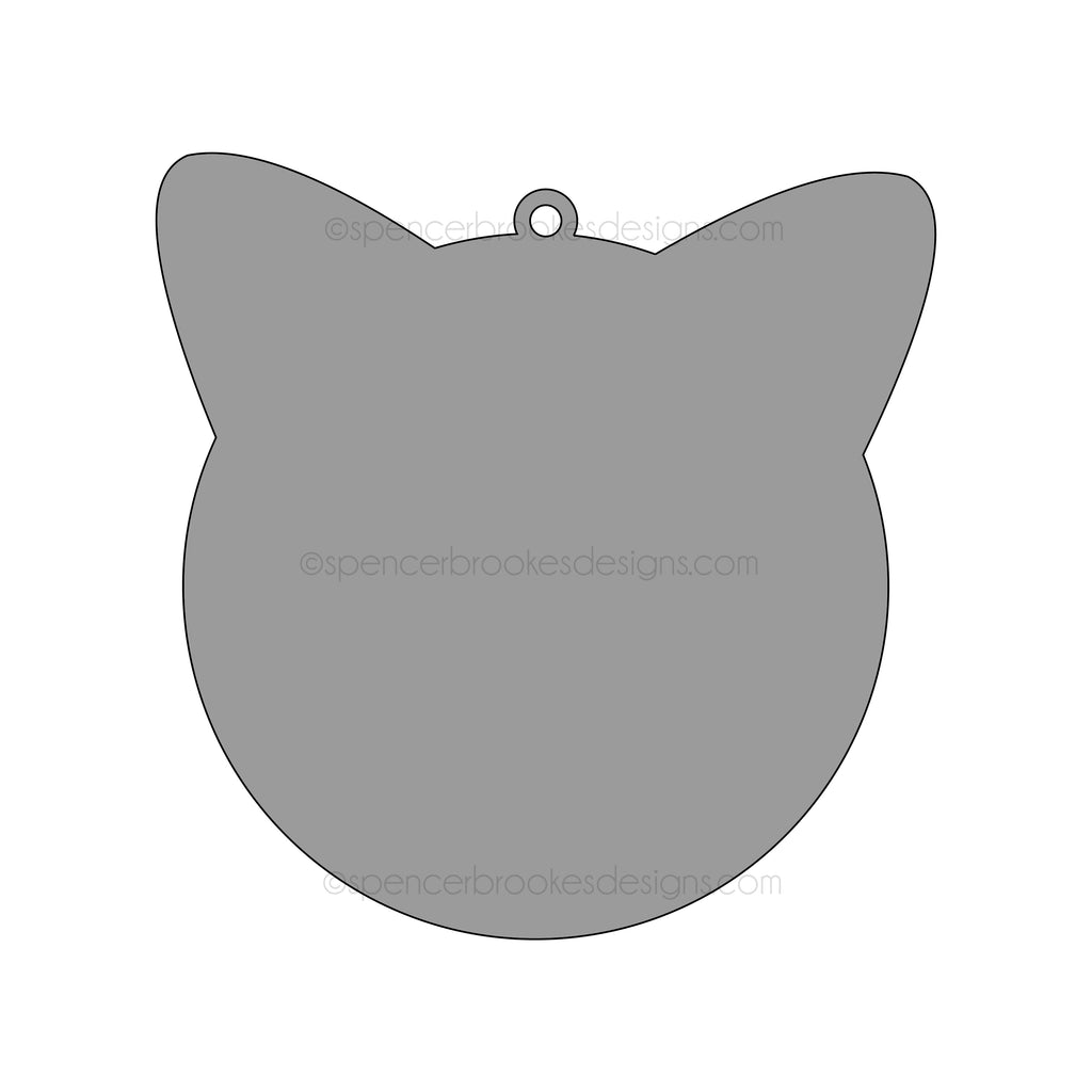 3mm Blank Acrylic Cat Shape Pet Tag