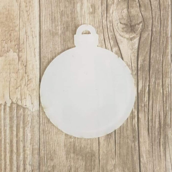 2mm Thick Blank CLEAR Acrylic Christmas Baubles