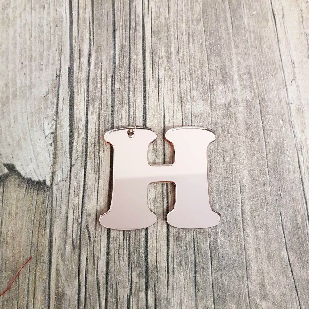 Mirrored Acrylic Letter Key Tag