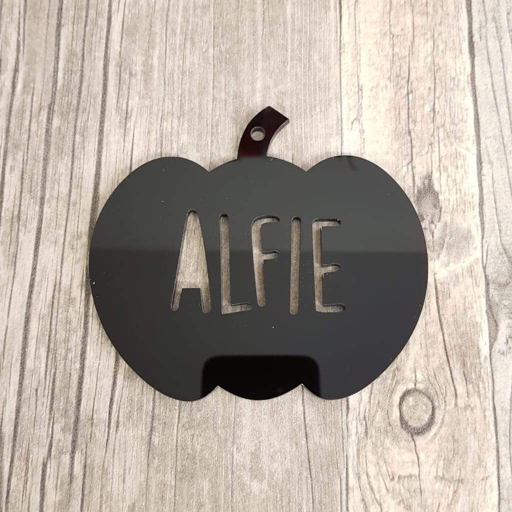 Personalised Acrylic Pumpkin Bauble/Tag