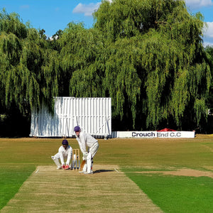 Looking Down Hill, Down The Pitch, Toward The Willows Overhanging The Sightscreen Of Crouch End Cricket Club