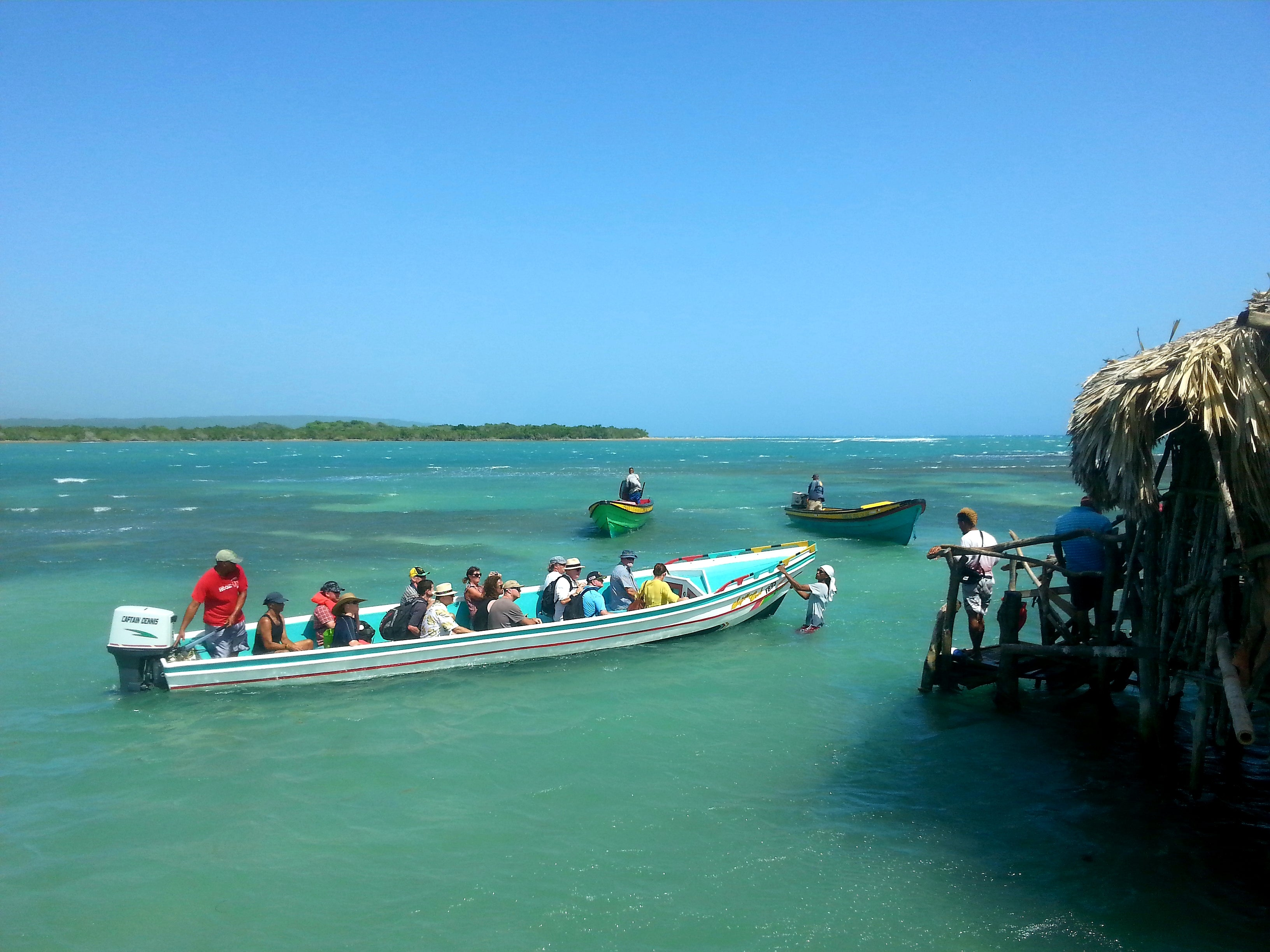Australian Cricket Tours - You Need A Boat To Reach Floyd's Pelican Bar In Jamaica