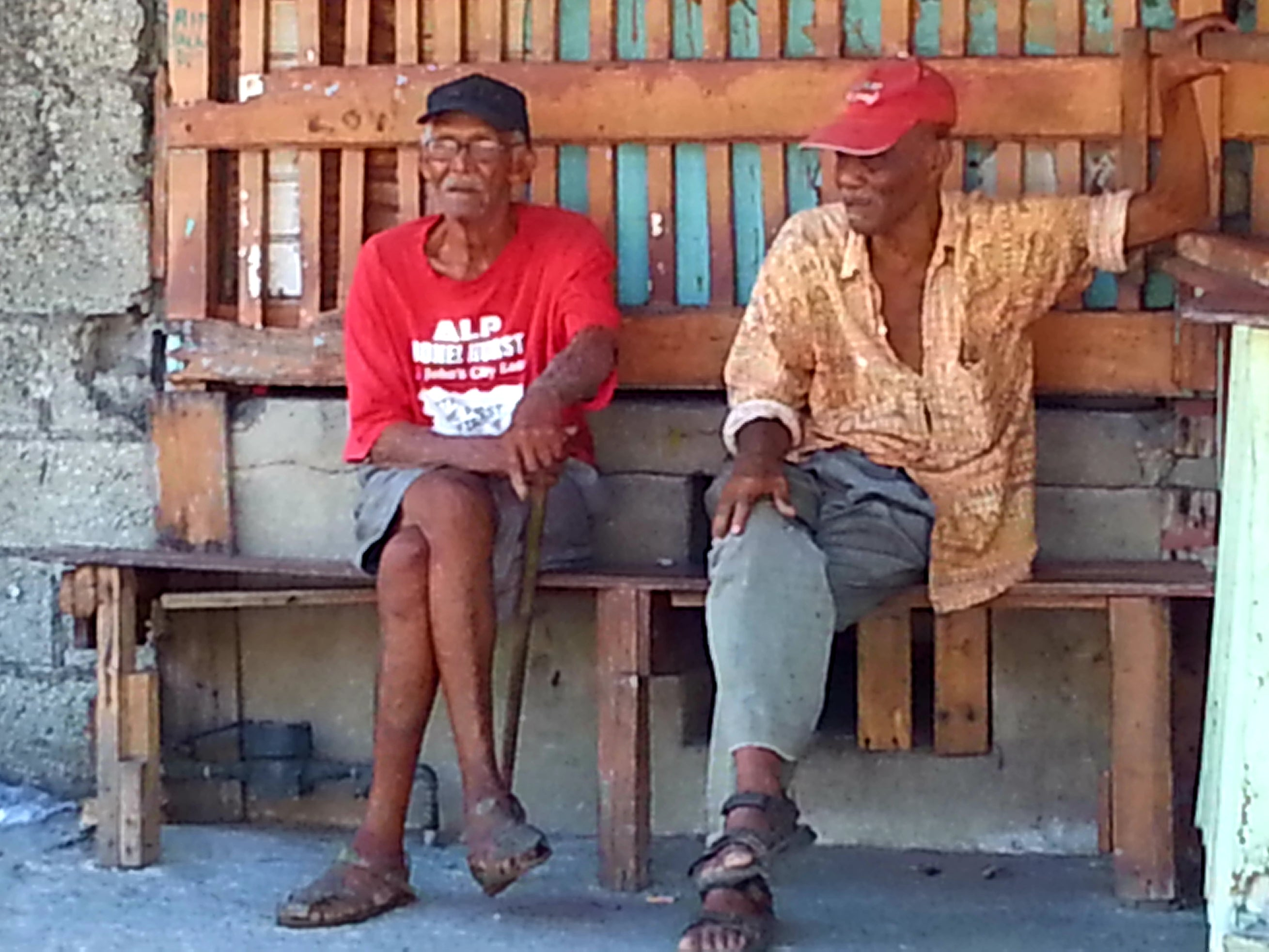 Australian Cricket Tours - Two West Indian Gents Lazing Away The Day Outside A Rum Shack In Jamaica
