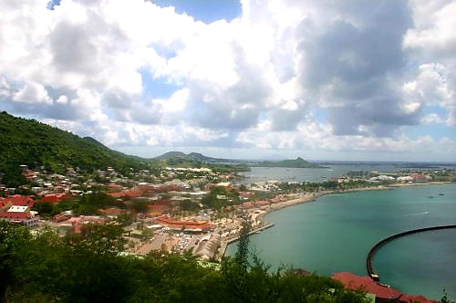 Australian Cricket Tours - The View Of Marigot From Fort Louis, St Martin