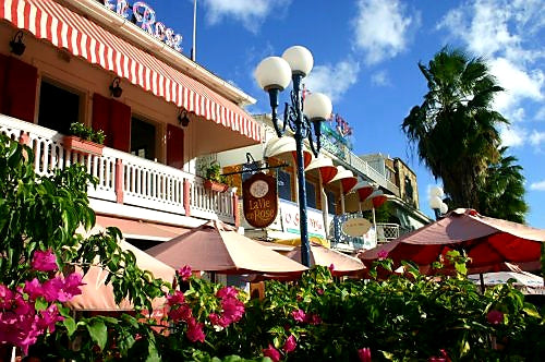 Australian Cricket Tours - The Chic And Colourful Architecture At The Marigot Marina, St Martin