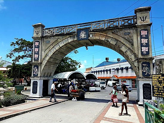 Australian Cricket Tours - Independence Arch, Bridgetown, Barbados
